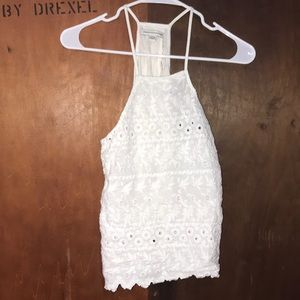 American eagles white lace tank top